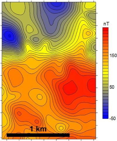 Geomagnetik tiefe Geothermie Oberrheintalgraben Vulkanite